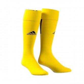 Football Socks  adidas Santos 18 Yellow-White