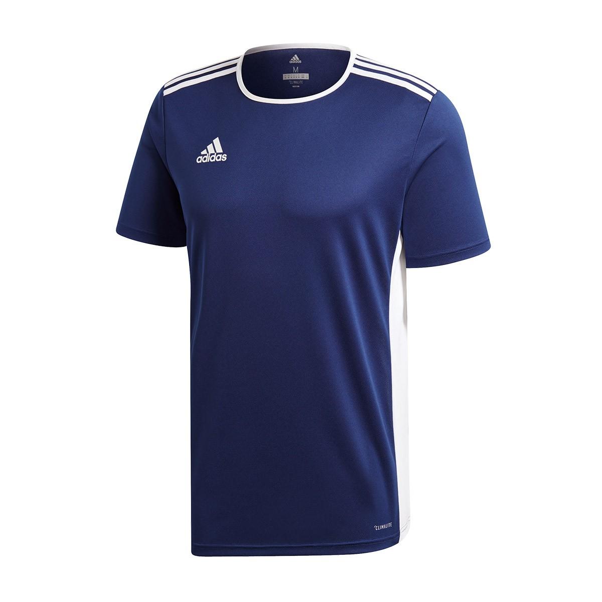 Jersey adidas Entrada 18 m/c Dark blue-White - Fútbol Emotion