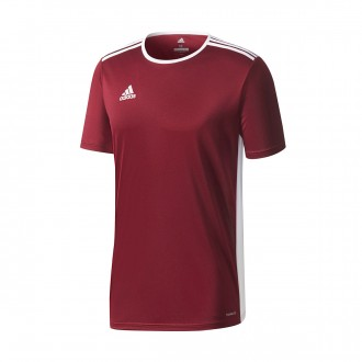 Jersey  adidas Entrada 18 m/c Maroon-White
