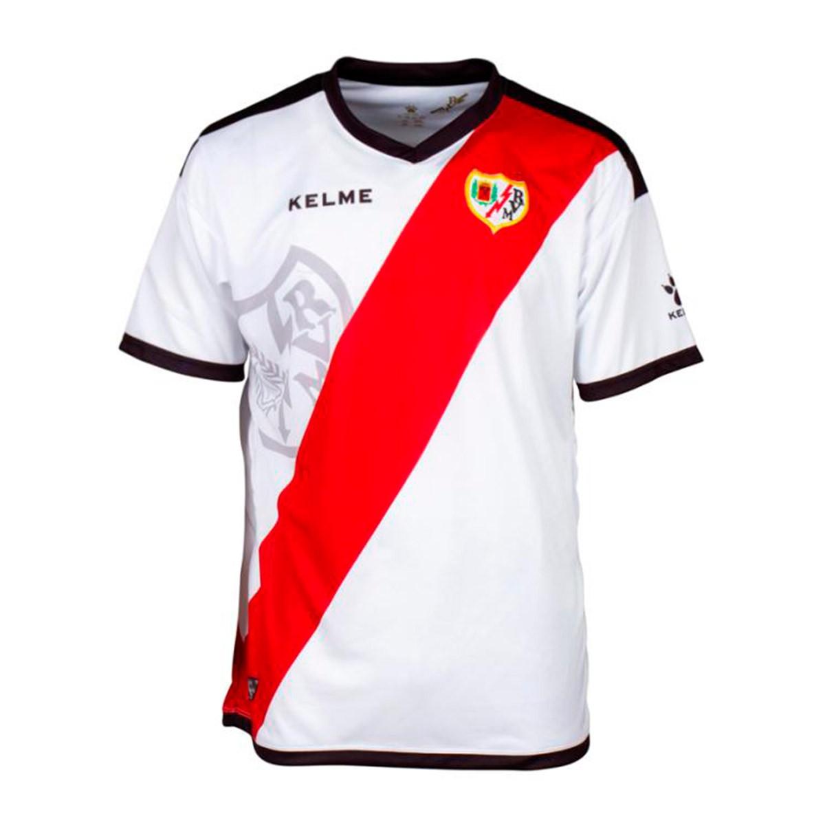 Primera 2018 2019 Rayo Camiseta Red Vallecano White Kelme Equipación 8On0mvyNw