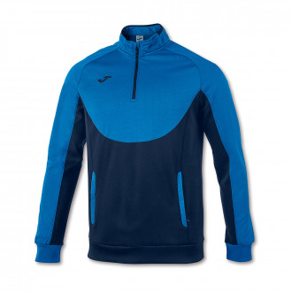 Sweat Joma Essential 1/2 Fermeture Royal-Bleu marine