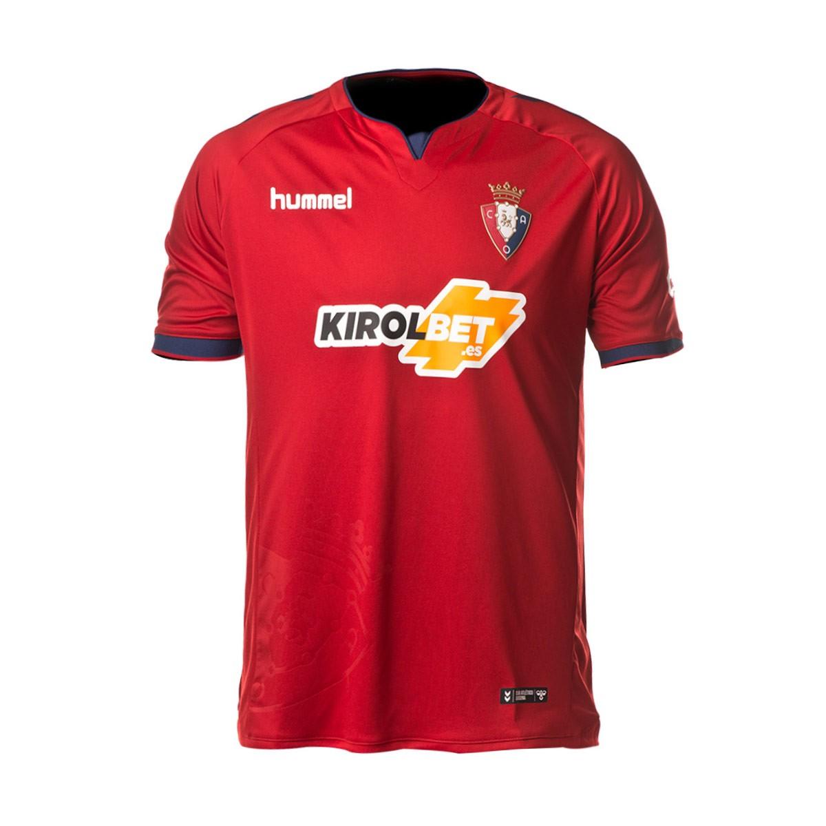 676afd0d513 Jersey Hummel CA Osasuna 2018-2019 Home Red-Marine - Football store ...