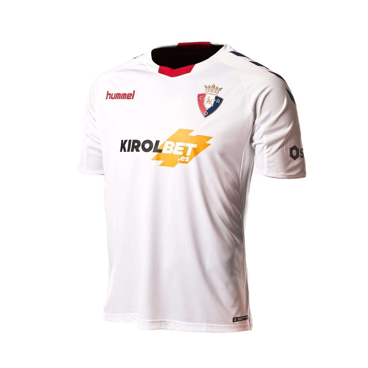 Camiseta Hummel CA Osasuna Tercera Equipación 2018-2019 White-Marine -  Soloporteros es ahora Fútbol Emotion af92806ae53f2