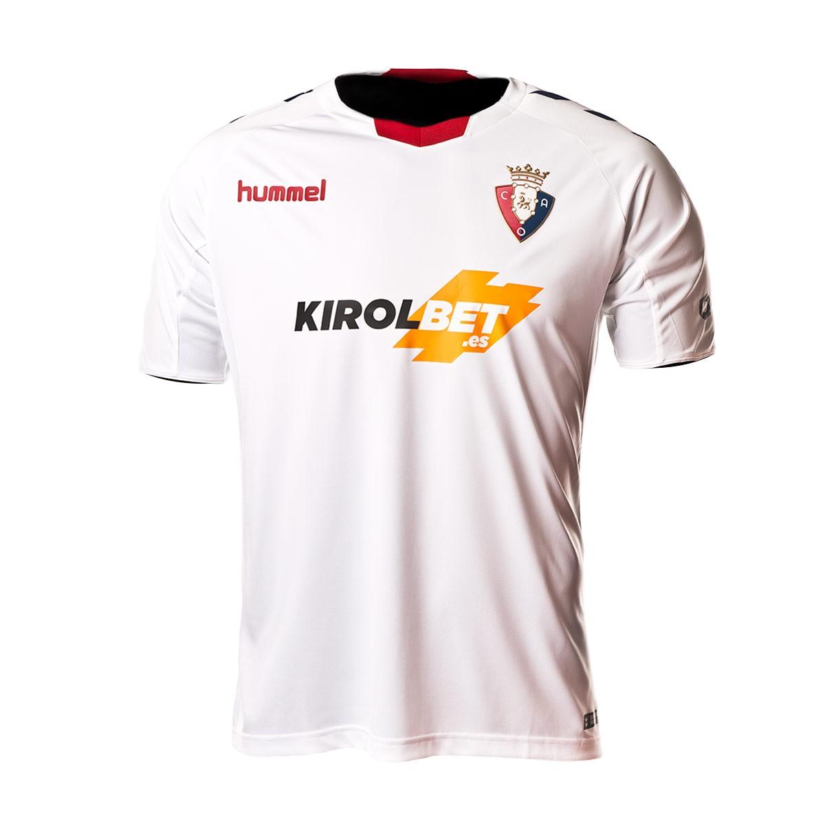 Camiseta Hummel CA Osasuna Tercera Equipación 2018-2019 White-Marine -  Soloporteros es ahora Fútbol Emotion 5980bcfa2e85f