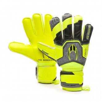 Glove  HO Soccer Basic Protek Flat Power Lime