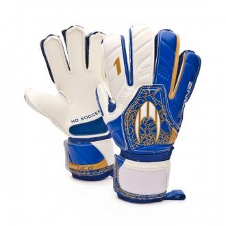 Glove  HO Soccer One Flat High blue
