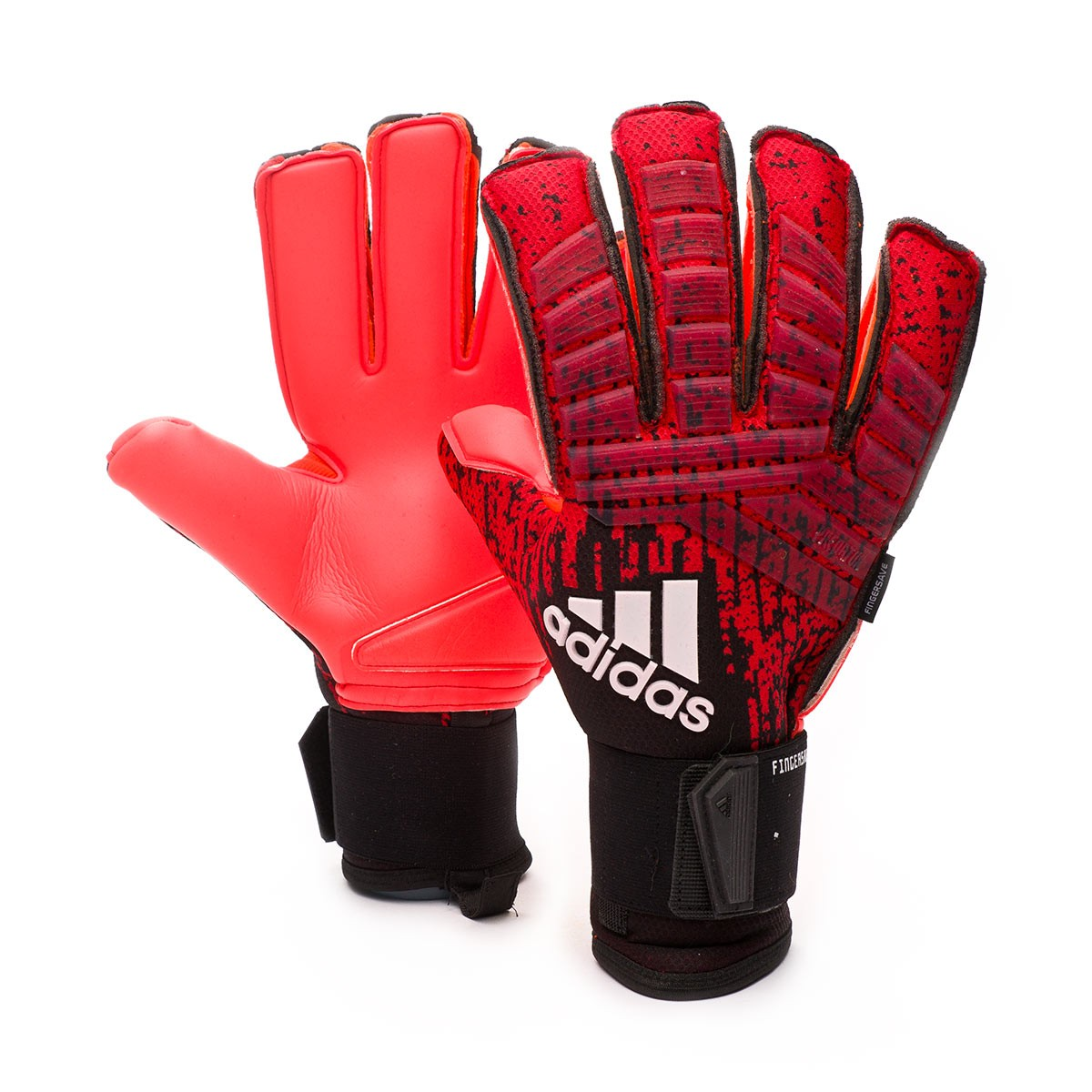 Inscribirse Marca comercial crisantemo  Glove adidas Predator Pro Fingersave Active red-Black-Solar red - Football  store Fútbol Emotion
