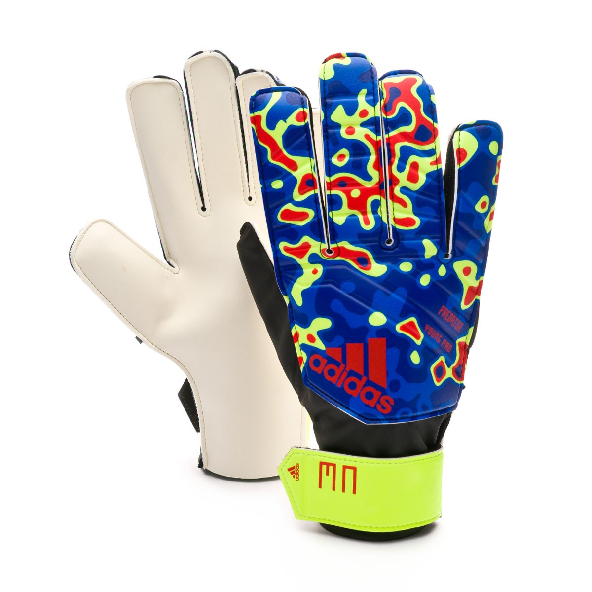 newest bf160 52796 Glove adidas Predator YP MN Solar yellow-Football blue-Active red - Football  store Fútbol Emotion