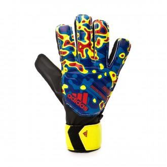 Luvas  adidas Predator Junior Fingensave MN Crianças Solar yellow-Football blue-Active red