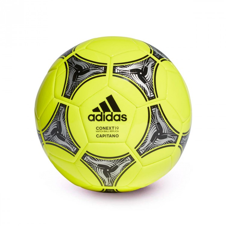 Ball adidas Conext 19 Capitano Solar yellow-Black-Silver metallic ... fea49dfc96a4c