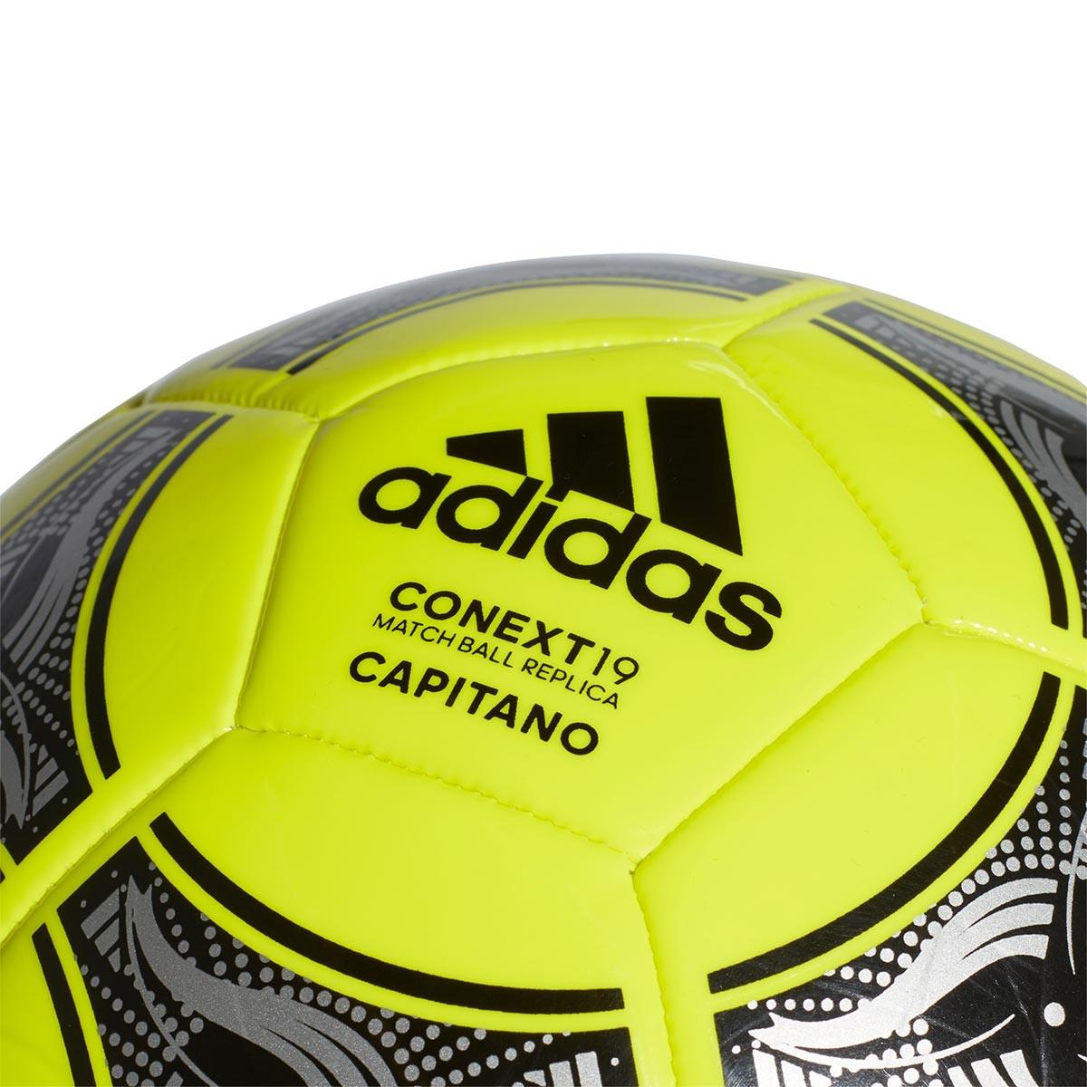08fa262e7 Ball adidas Conext 19 Capitano Solar yellow-Black-Silver metallic -  Football store Fútbol Emotion
