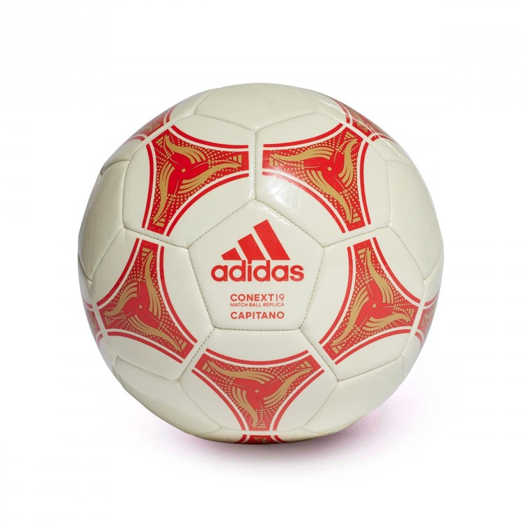 cc3fede7e76ea Bola de Futebol adidas Conext 19 Capitano Raw white-Active red-Raw ...