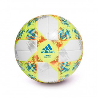 Balón  adidas Conext 19 Training White-Solar yellow-Solar red-Football blue