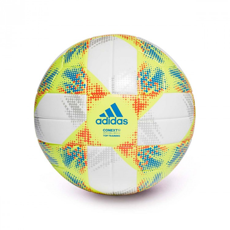 1c0eba8e1d5f5 Ball adidas Conext 19 Training White-Solar yellow-Solar red-Football ...
