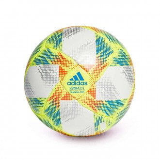 Ball  adidas Conext 19 Training Pro White-Solar yellow-Solar red-Football blue