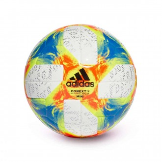 Ball  adidas Mini Conext 19 White-Solar yellow-Solar red-Football blue