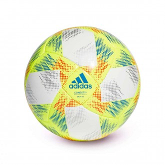 Ball  adidas Conext 19 Sala White-Solar yellow-Solar red-Football blue