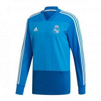 Sudadera  adidas Real Madrid Training Top 2018-2019 Craft blue-Dark royal-Core white