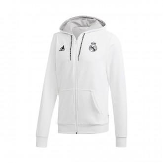 Jacket  adidas Real Madrid FZ Hoodie 2018-2019 White-Grey two