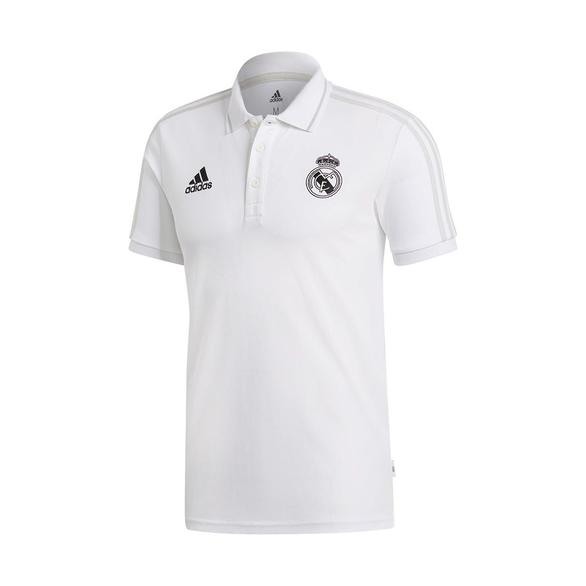 f75df88e686 Polo shirt adidas Real Madrid 2018-2019 White-Grey two - Tienda de ...