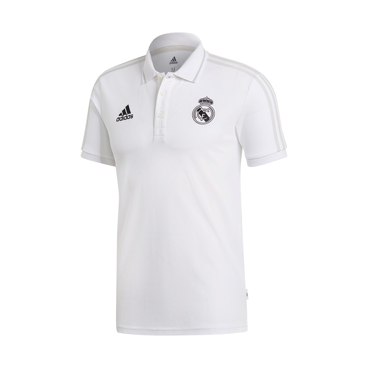 aa0cfeb7e4869 Polo adidas Real Madrid 2018-2019 White-Grey two - Tienda de fútbol Fútbol  Emotion