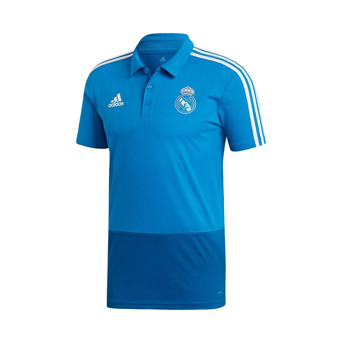55803a97a01 Polo shirt adidas Real Madrid 2018-2019 Craft blue-Dark royal-Core ...