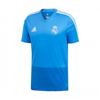 Camiseta  adidas Real Madrid Training 2018-2019 Craft blue-Dark royal-Core white