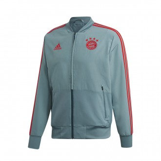 Chaqueta  adidas FC Bayern Munich Prematch 2018-2019 Raw green-Red