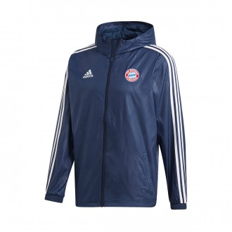 Chaqueta  adidas FC Bayern Munich Windbreak 2018-2019 Collegiate navy-White
