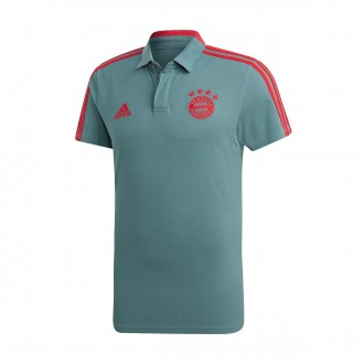 Polo shirt  adidas FC Bayern Munich CO 2018-2019 Raw green-Red