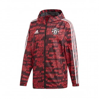 Jacket  adidas Manchester United FC Windbreak 2018-2019 Black-Real red