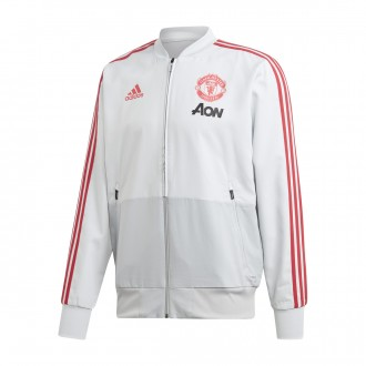 Casaco  adidas Manchester United FC Prematch 2018-2019 Clear grey-Blaze red