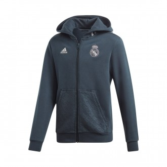 Jacket  adidas Kids  Real Madrid FZ Hoodie 2018-2019  Tech onix-Grey two