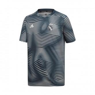 Camiseta  adidas Real Madrid Prematch 2018-2019 Niño Tech onix-Core white