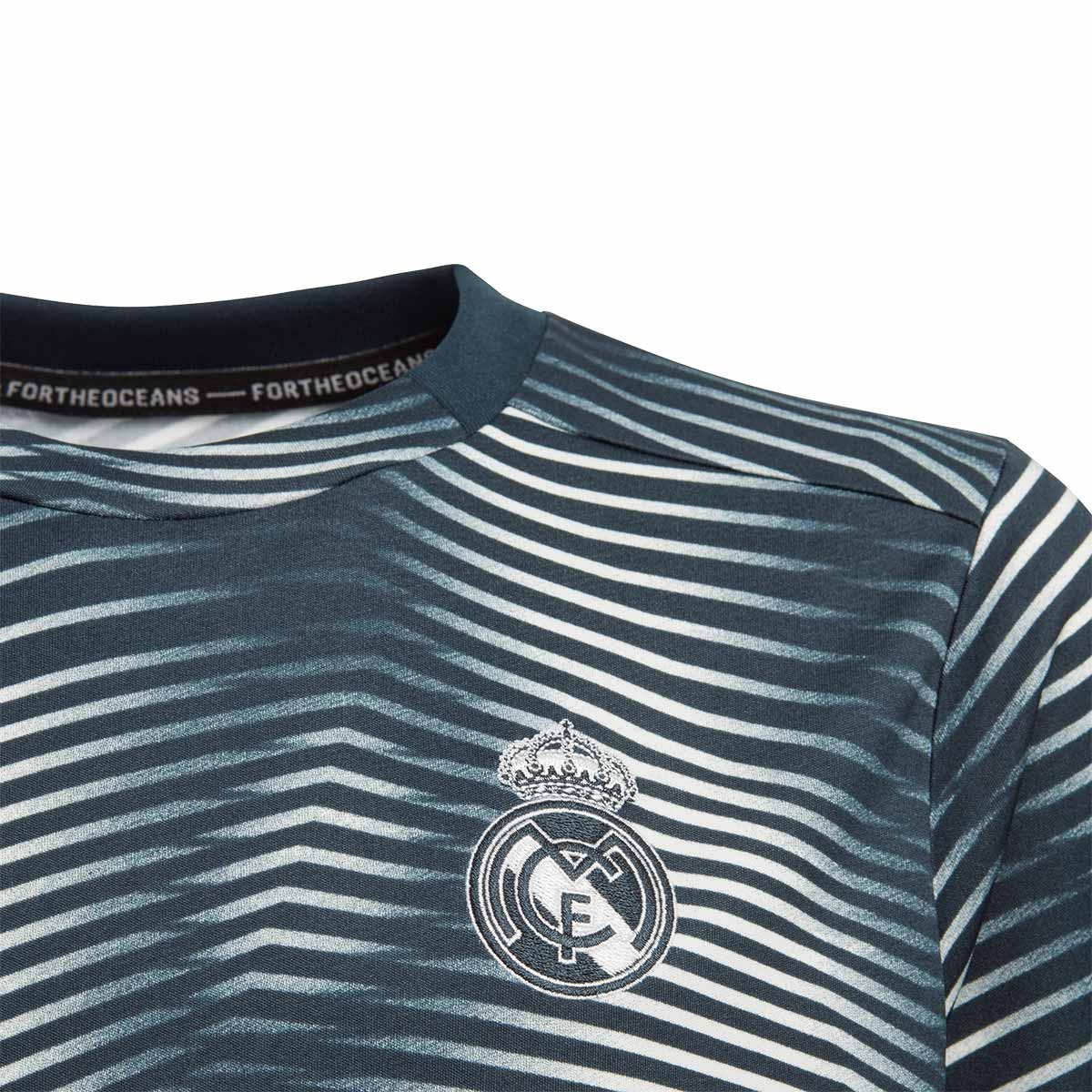1e8b45421ac14 Camiseta adidas Real Madrid Prematch 2018-2019 Niño Tech onix-Core white -  Tienda de fútbol Fútbol Emotion
