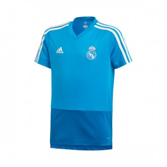Camiseta  adidas Real Madrid Training 2018-2019 Niño Craft blue-Dark royal-Core white