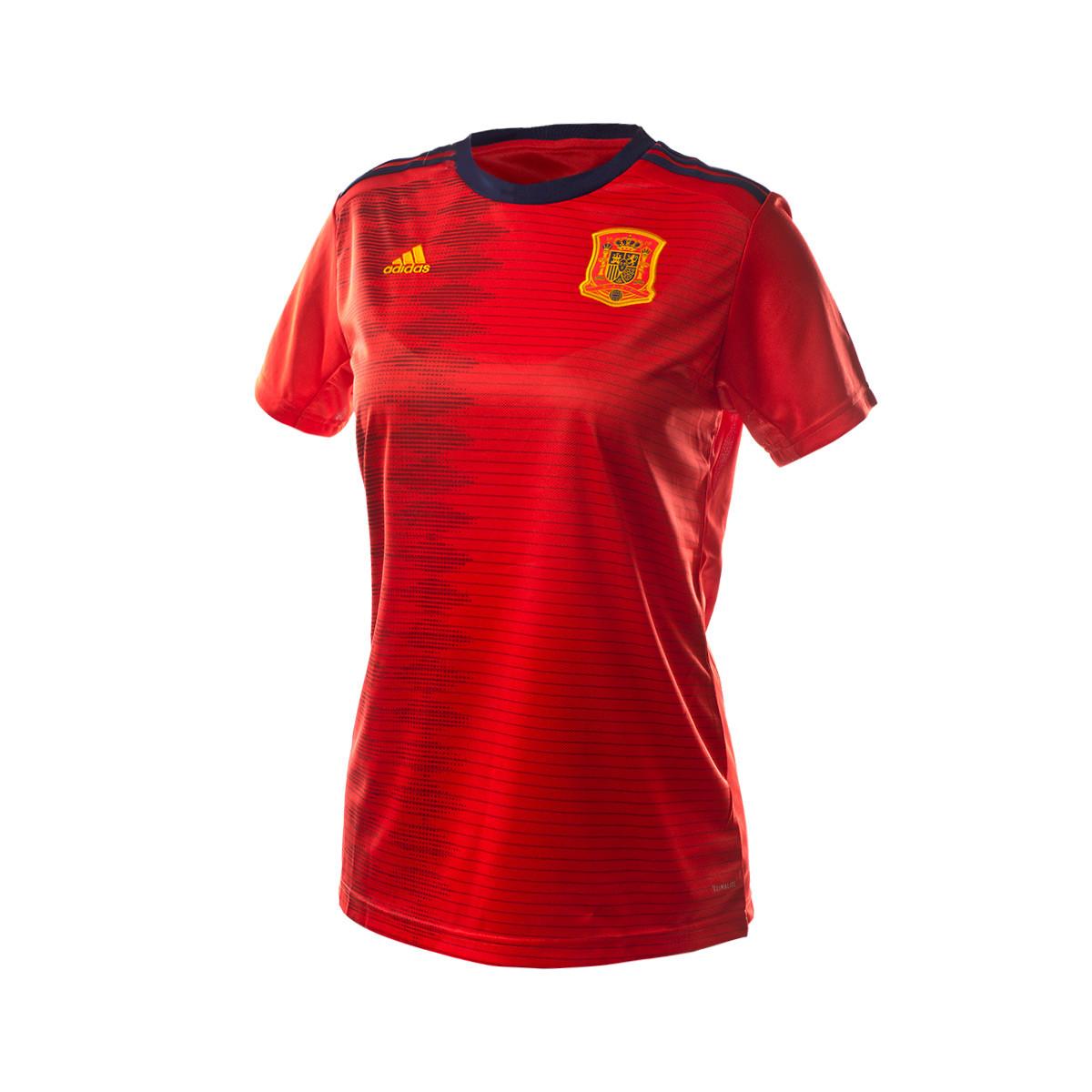 3e6a8a618b90b Playera adidas España Primera Equipación WWC 2019 Mujer Red - Tienda de  fútbol Fútbol Emotion