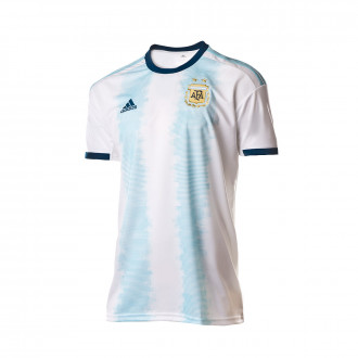Jersey  adidas Argentina 2019 Home White-Light aqua