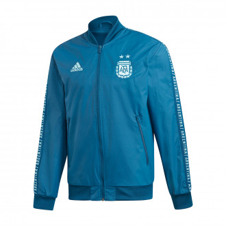 Chamarra  adidas Argentina Anthem 2019 Blue night-Light aqua