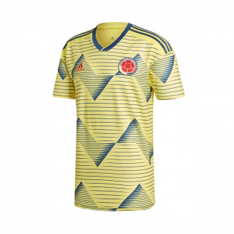 Camisola  adidas Colômbia Equipamento Principal 2019 Light yellow-Night marine