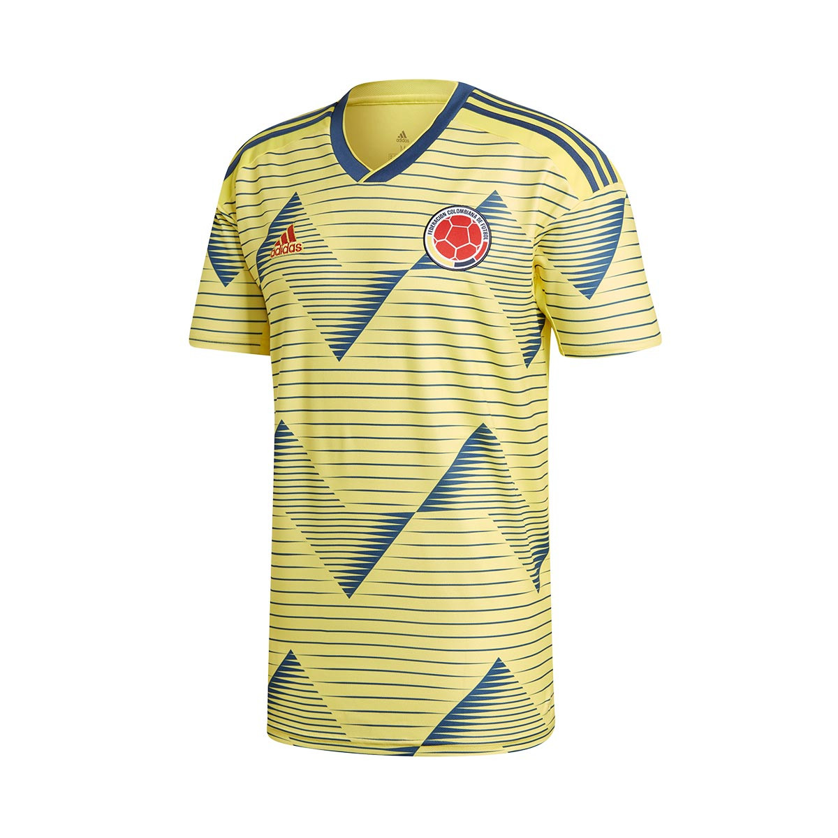 849ac32b68d Jersey adidas Colombia 2019 Home Light yellow-Night marine ...