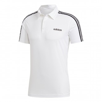 Polo shirt  adidas 3S Design2Move White-Black