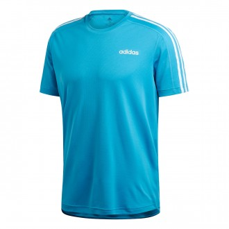 Camiseta  adidas 3S Design2Move Shock cyan