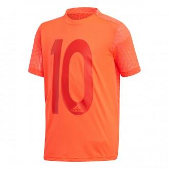 Camiseta  adidas Messi Icon Niño Solar red