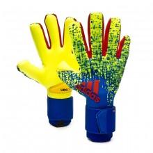 Luvas Predator Pro Solar yellow-Bold blue-Active red