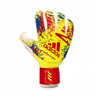 Guante  adidas Classic Pro GC Solar yellow-Active red-Football blue