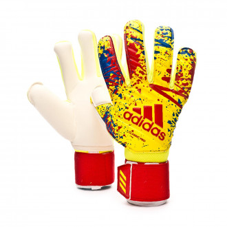 Guante  adidas Classic Pro Solar yellow-Active red-Football blue