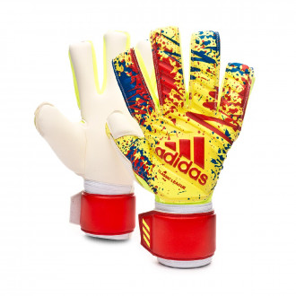 Guante  adidas Classic League Solar yellow-Active red-Football blue