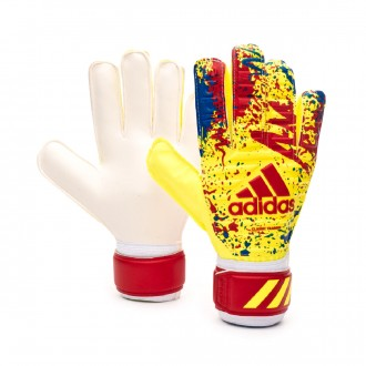 Guante  adidas Classic Training Solar yellow-Active red-Football blue