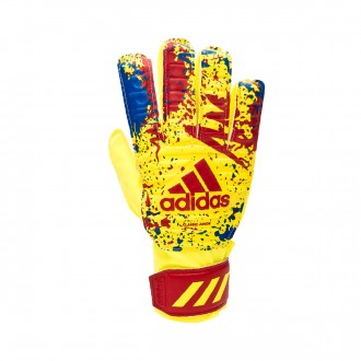 Guante  adidas Classic Training Niño Solar yellow-Active red-Football blue